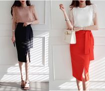 gumzzi Pencil Skirts Casual Style Plain Long Party Style