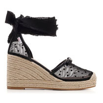 RED VALENTINO Dots Casual Style Plain Platform & Wedge Sandals