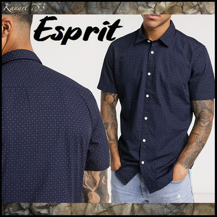 Dots Street Style Cotton Short Sleeves Shirts