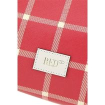 RED VALENTINO Other Plaid Patterns Casual Style Plain Elegant Style Logo