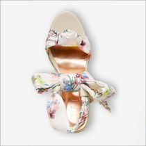 TED BAKER Flower Patterns Open Toe Platform Casual Style Flip Flops