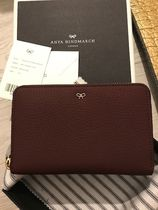Anya Hindmarch Plain Leather Long Wallet  Logo Accessories