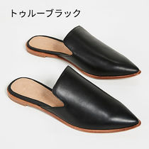 Ron Herman Rubber Sole Casual Style Street Style Plain Leather Slippers