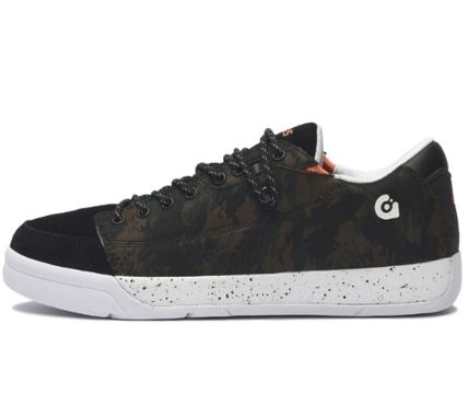 Camouflage Casual Style Unisex Suede Low-Top Sneakers