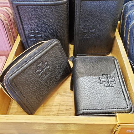 Tory Burch Plain Leather Long Wallet  Small Wallet Logo Coin Cases
