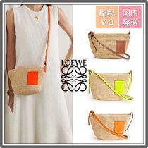 LOEWE Casual Style Collaboration Leather Logo Shoulder Bags