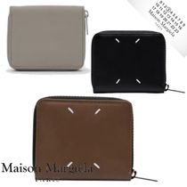 Maison Margiela Plain Leather Folding Wallet Long Wallet  Logo