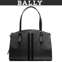 BALLY Casual Style 2WAY Plain Leather Formal Style  Totes
