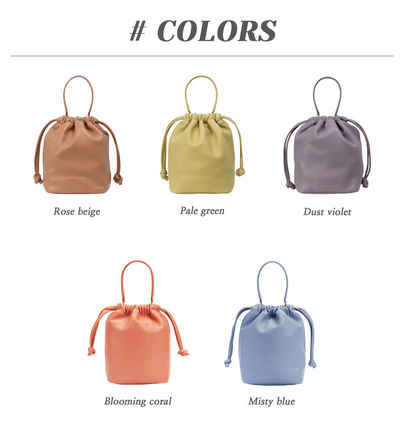 2WAY Leather Office Style Handbags