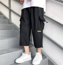 Flower Patterns Street Style Plain Oversized Cropped Pants