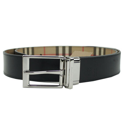 Burberry Other Plaid Patterns Plain Leather Belts