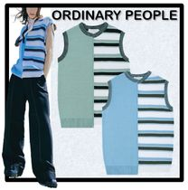ORDINARY PEOPLE Unisex Street Style Vests & Gillets