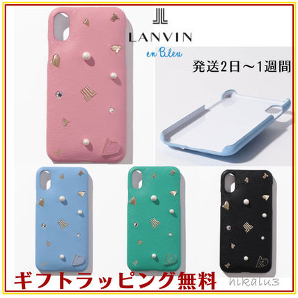 iPhone X Logo Leather Smart Phone Cases