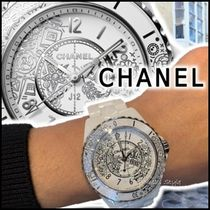 CHANEL J12 Casual Style Quartz Watches Ceramic Stainless Elegant Style