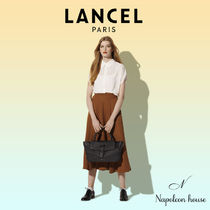 LANCEL Casual Style A4 2WAY Plain Leather Party Style Office Style