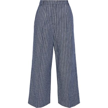 Stripes Office Style Cropped & Capris Pants