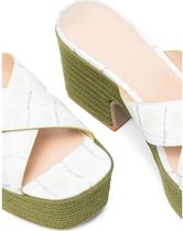 JACQUEMUS Open Toe Platform Casual Style Leather