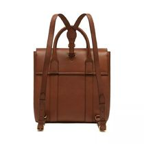 Mulberry Bayswater Casual Style Vanity Bags Plain Leather Office Style