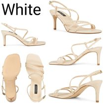 Nine West Open Toe Square Toe Casual Style Plain Pin Heels Party Style
