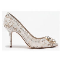 Dolce & Gabbana Flower Patterns Pin Heels Party Style Office Style