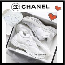CHANEL SPORTS Unisex Plain Sneakers