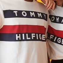 Tommy Hilfiger More T-Shirts Crew Neck Unisex Cotton Short Sleeves Logo T-Shirts 7