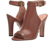 Coach Wedge Open Toe Platform Casual Style Leather Block Heels