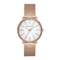 Michael Kors Casual Style Round Quartz Watches Stainless Office Style