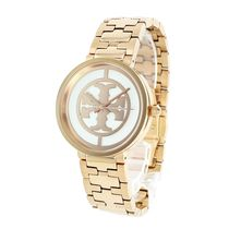 Tory Burch Casual Style Round Quartz Watches Stainless Office Style