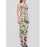 Dolce & Gabbana Pencil Skirts Flower Patterns Casual Style Silk Medium