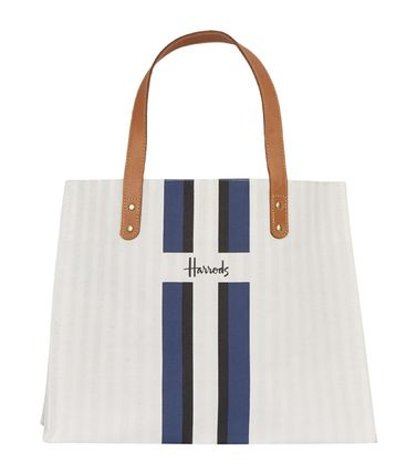 Stripes Canvas A4 Logo Shoppers