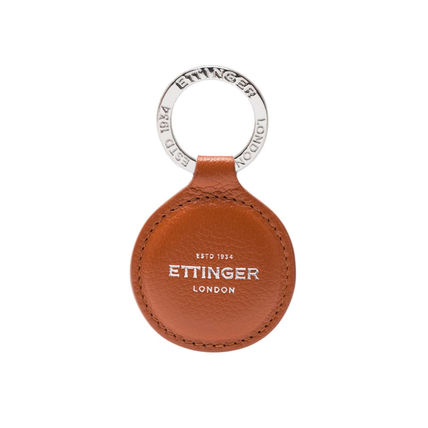 Unisex Street Style Plain Leather Keychains & Holders