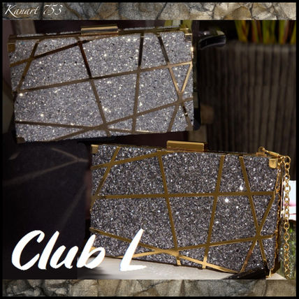 2WAY Chain Party Style With Jewels Elegant Style Party Bags