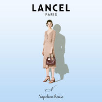 LANCEL Casual Style A4 2WAY Plain Leather Office Style