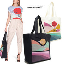 Isabel Marant Casual Style A4 Logo Totes