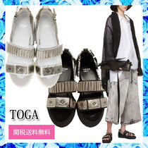 TOGA Open Toe Round Toe Rubber Sole Casual Style Suede
