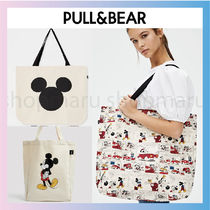 PULL & BEAR Casual Style Canvas A4 Office Style Formal Style  Totes