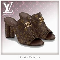 Louis Vuitton MONOGRAM Monogram Open Toe Casual Style Blended Fabrics Leather