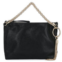 Jimmy Choo Casual Style Suede Tassel 2WAY Chain Plain Leather