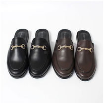 Loafers Faux Fur Plain U Tips Loafers & Slip-ons