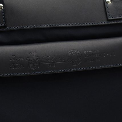 Nylon Leather Logo Business & Briefcases
