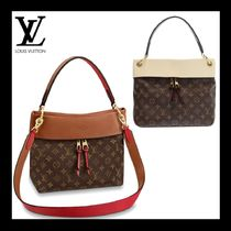 Louis Vuitton TUILERIES Monogram Casual Style Calfskin 3WAY Plain Leather Crossbody