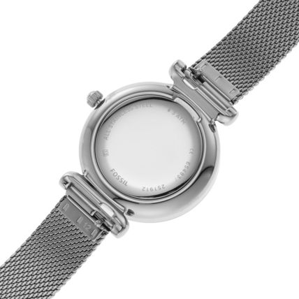 Round Casual Style Quartz Watches Stainless Analog Watches