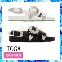 TOGA Rubber Sole Casual Style Other Animal Patterns Leather