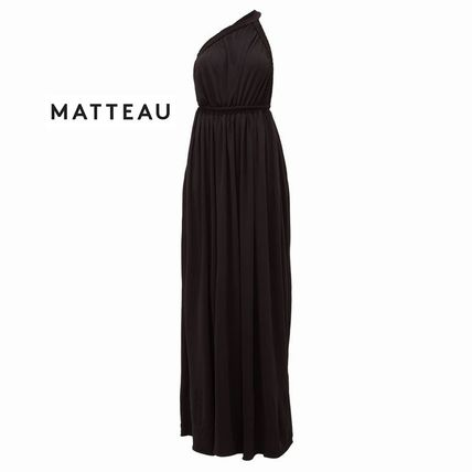 Maxi Sleeveless Flared Plain Long Midi Elegant Style Dresses