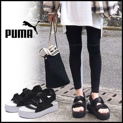 Platform Casual Style Street Style Plain Shower Shoes Logo