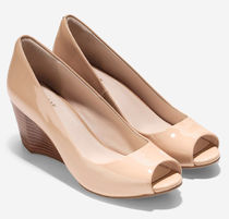 Cole Haan Open Toe Platform Casual Style Plain Party Style