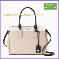 kate spade new york CAMERON STREET 2WAY Bi-color Plain Leather Elegant Style Satchels