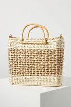 Anthropologie Blended Fabrics Collaboration Straw Bags