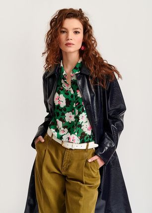 Flower Patterns Tropical Patterns Casual Style Unisex Wool